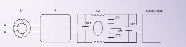 电源模块由于体积的限制,其输入级只有比较简单的滤波电路,满足客户